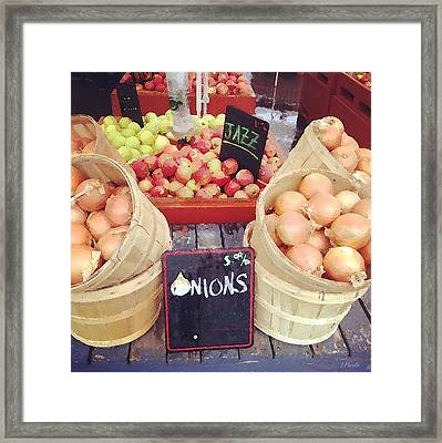 Farmer's Market Framed Print