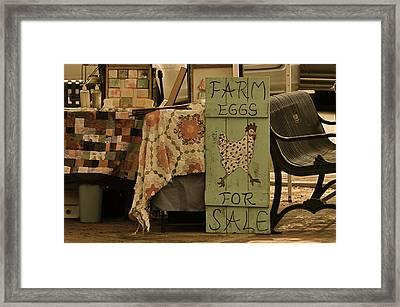 Farmers Market Framed Print by Linda Dyer Kennedy