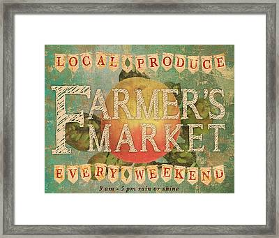 Farmer's Market Framed Print by Marilu Windvand