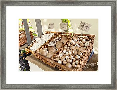 Farmers Market Mushrooms Framed Print by Sophie McAulay