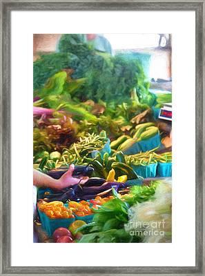 Farmer's Market Produce Stall Framed Print