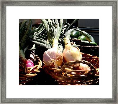 Farmer's Market Still Life Framed Print