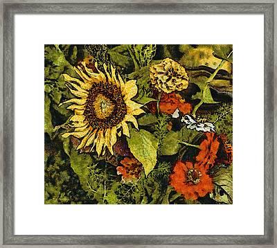 Farmers Market Sunflower Framed Print