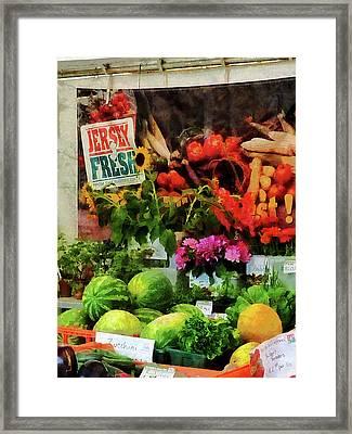 Farmer's Market Framed Print by Susan Savad