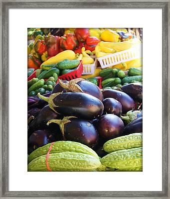 Farmers Market Vegetables Framed Print by Carol Toepke