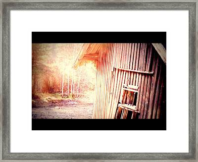 There Will Be A New Morning At The Old Farm And We Will Be There  Framed Print by Hilde Widerberg