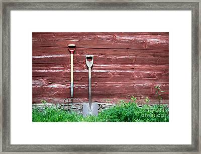 Framed Print featuring the photograph Farmers Old Tools by Kennerth and Birgitta Kullman