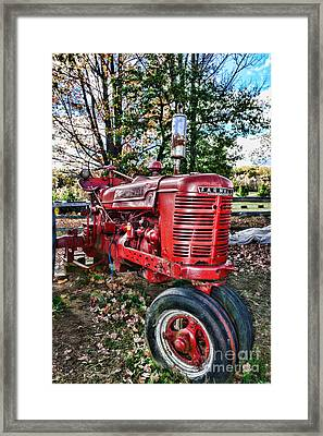 Farmers Tractor Framed Print by Paul Ward
