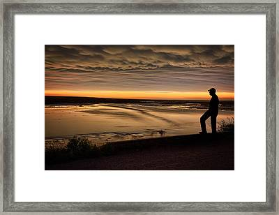Farmer's Worry Framed Print by Thomas Zimmerman