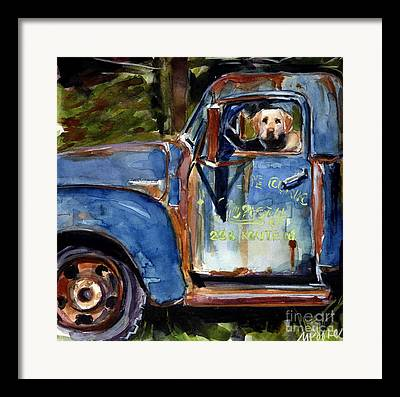 Yellow Labrador Retriever Framed Prints