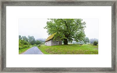 Farmhouse In A Field, Chapelle Du Mas Framed Print by Panoramic Images
