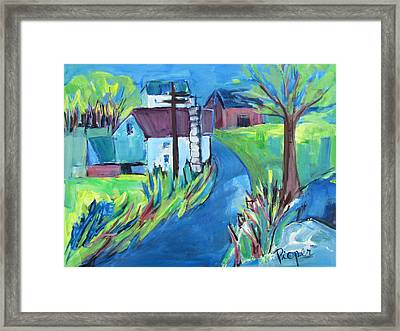 Farmhouse In Spring Again Framed Print