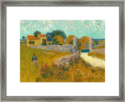 Farmhouse In The Provence Framed Print by Vincent van Gogh