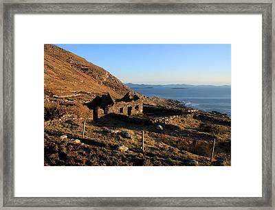 Farmhouse Ruin Framed Print by Aidan Moran