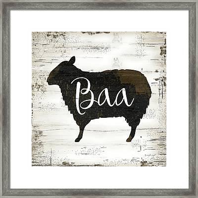 Farmhouse Sheep Framed Print
