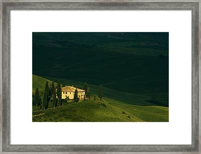 Farmhouse Tuscan Framed Print by Andrew Soundarajan