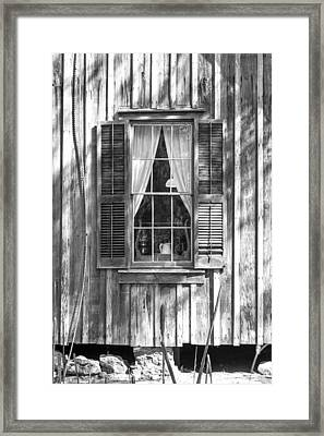 Farmhouse Window Framed Print by Lynn Palmer