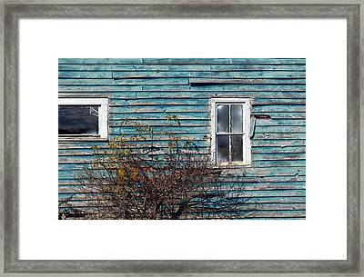 Farmhouse Windows Framed Print