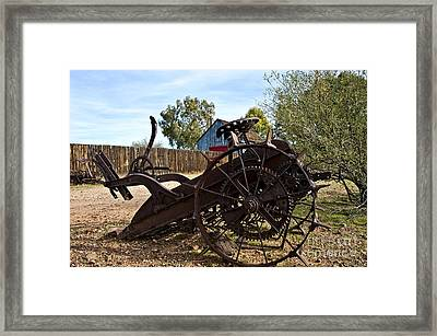 Farming Days Are Done Framed Print by Lee Craig