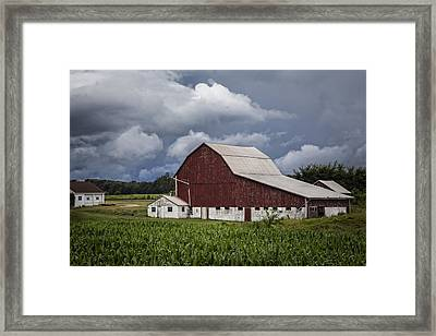 Farming Framed Print by Debra and Dave Vanderlaan