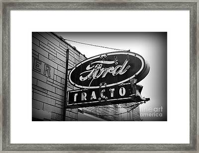 Farming - Ford Tractors Framed Print by Paul Ward