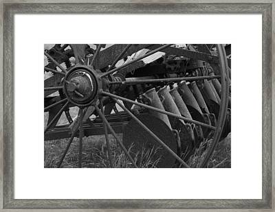 Farming Harrow Framed Print by Upekhya Palihapitiya
