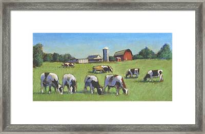 Farming In The Dell Framed Print by David Zimmerman