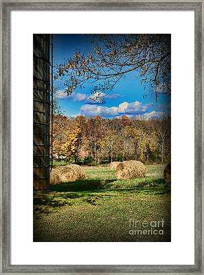 Farming - Its Harvest Time Framed Print by Paul Ward