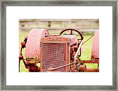 Farming Relic Framed Print by Scott Pellegrin