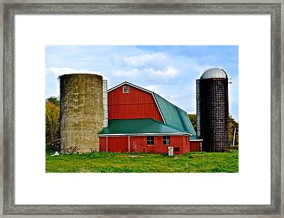 Farming Framed Print by Frozen in Time Fine Art Photography