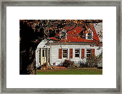 Farming Thanksgiving Framed Print by Catherine Melvin