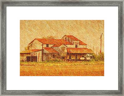Farm - Barn - Farming The Delta Framed Print by Barry Jones
