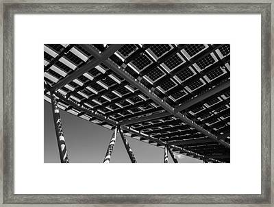 Farming The Sun - Architectural Abstract Framed Print