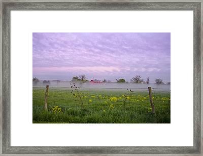 Farmland Framed Print by Bill Cannon