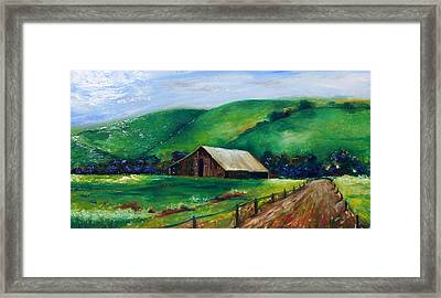 Framed Print featuring the painting Farmland by Emery Franklin