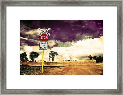 Farmland Hdr Framed Print by Phill Petrovic