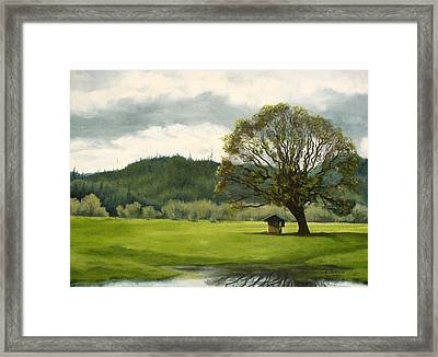 Farmland Hwy 36 Framed Print by Kenny Henson
