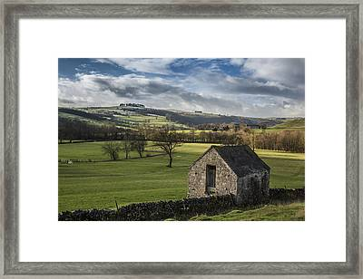 Farmland In The Peaks Framed Print