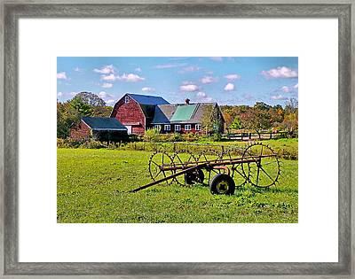 Farmland Framed Print by Janice Drew