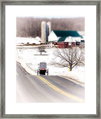 Farmland Framed Print by Vicki Jauron