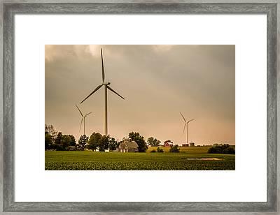 Farms And Windmills Framed Print