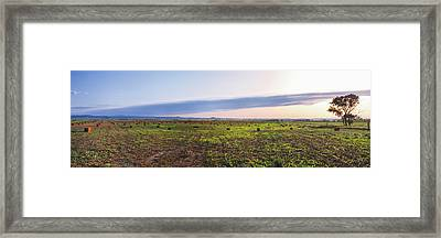 Farms At Sunset, Vale, Butte County Framed Print by Panoramic Images