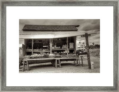 Farmstand Framed Print