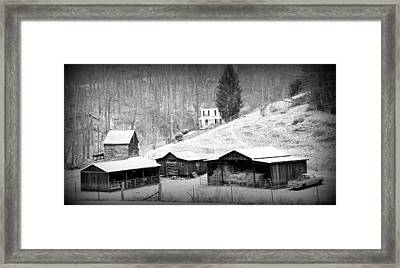 Farmstead Amherst County Va. Framed Print by Todd Hostetter