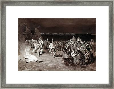 Farny Crow Dance, C1883 Framed Print by Granger