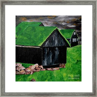 Faroe Houses Framed Print