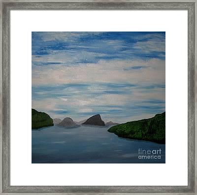 Framed Print featuring the painting Faroy Islands by Susanne Baumann