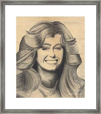 Farrah Fawcett Framed Print by D Wallace