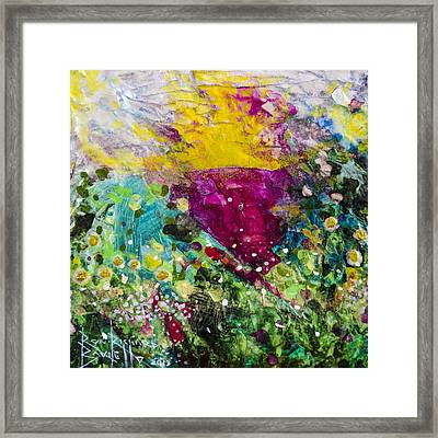 Framed Print featuring the painting Farreaching by Ron Richard Baviello