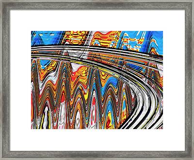 Framed Print featuring the digital art Highway To Nowhere Abstract by Gabriella Weninger - David
